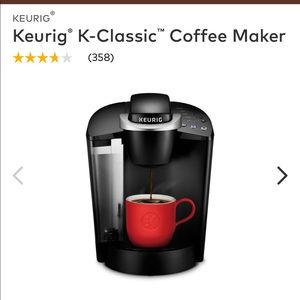 Keurig Classic Coffee Maker with Pod Holder